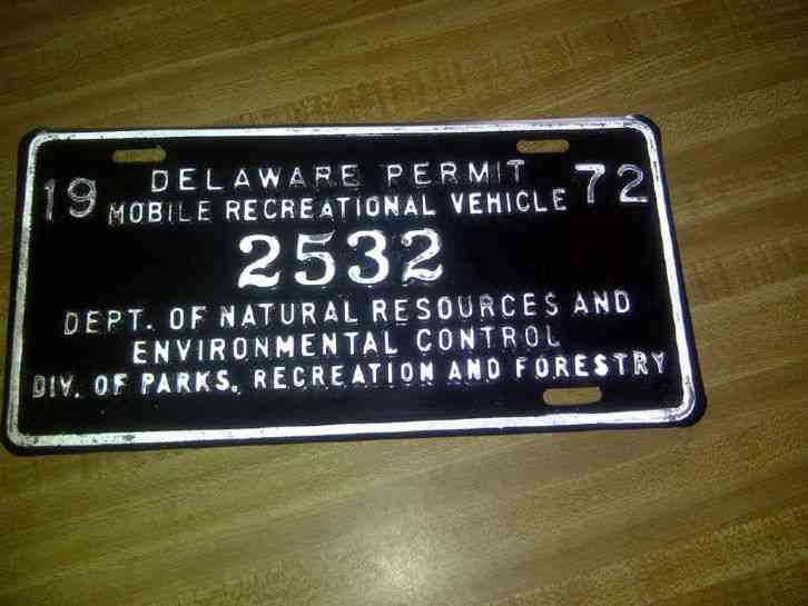 Delaware surf fishing permit vintage license plate tag for North carolina surf fishing license