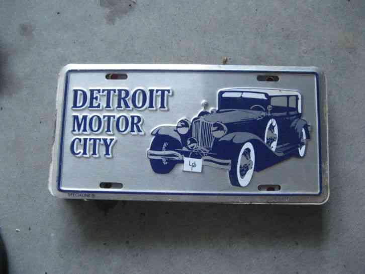 Detroit Motor City Michigan Mi Dealership Booster License