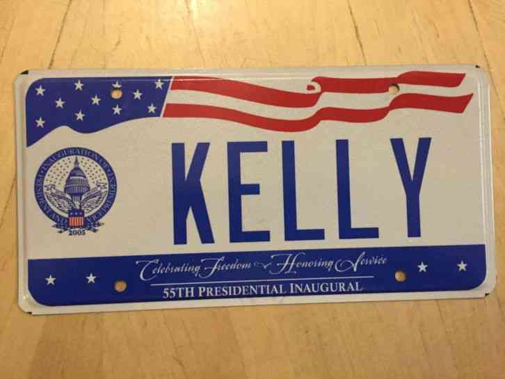 DISTRICT OF COLUMBIA INAUGURATION VANITY LICENSE PLATE