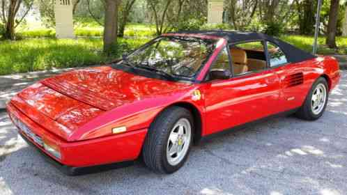 ferrari mondial 1990 t convertible 3 4 engine this is a 2 owner car. Black Bedroom Furniture Sets. Home Design Ideas
