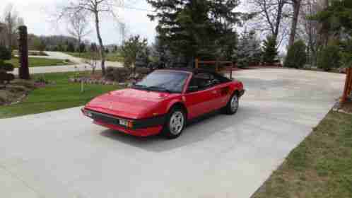 ferrari mondial 1984 a stunning cabriolet qv red with black interior. Black Bedroom Furniture Sets. Home Design Ideas