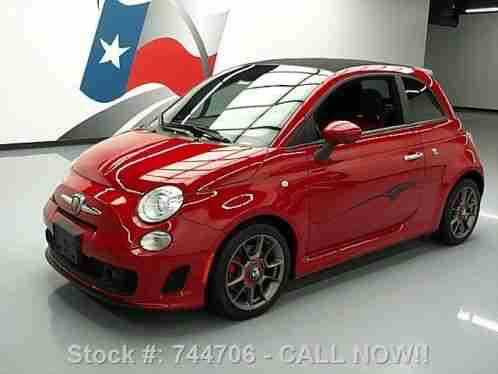 fiat 500 c abarth cabriolet turbo 5 spd leather 18k 2013. Black Bedroom Furniture Sets. Home Design Ideas