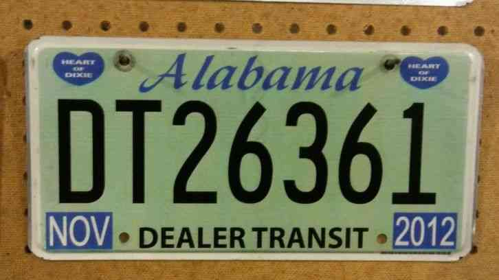 Alabama rca booster license plate country music cma tag for Michigan fishing license prices