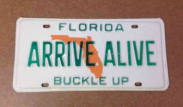 Used Cars Hawaii >> FLORIDA ARRIVE ALIVE campaign license plate Highway Patrol