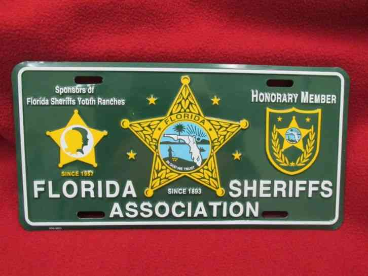 Florida Sheriffs Association Honorary Member Front License