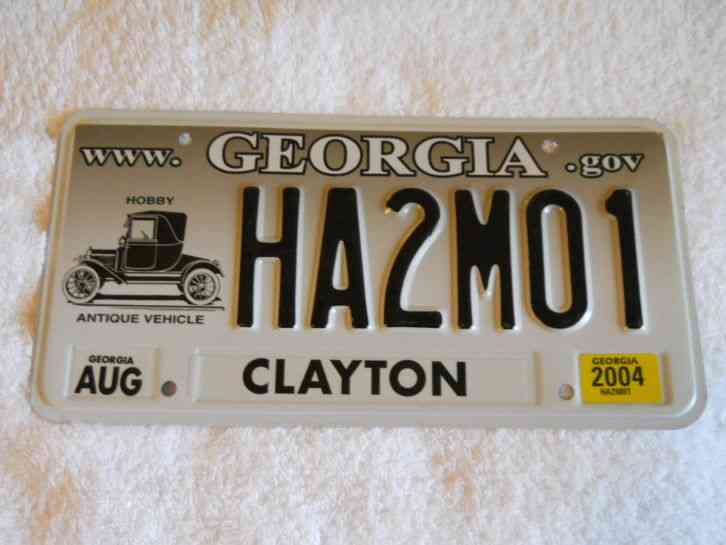 Georgia ga clayton co 2004 antique vehicle license plate for Clayton motor co west knoxville tn