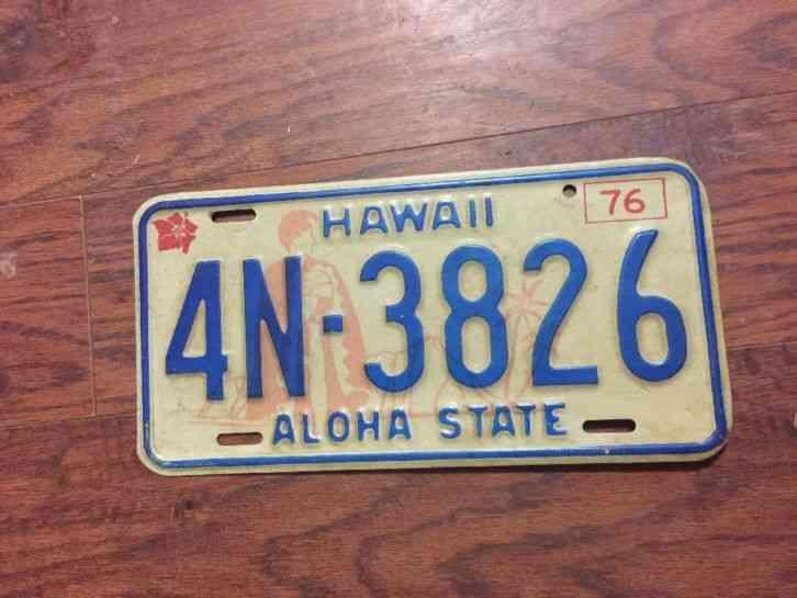 Hawaiian Tag: Hawaii 1969 Aloha State Motorcycle Plate