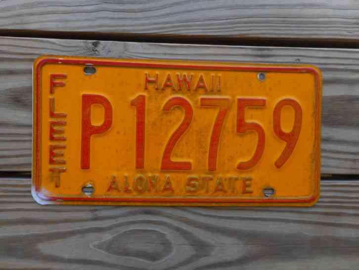 Hawaiian Tag: HAWAII LICENSE PLATE TAG NUMBER P12759 CLASSIC HI ALOHA