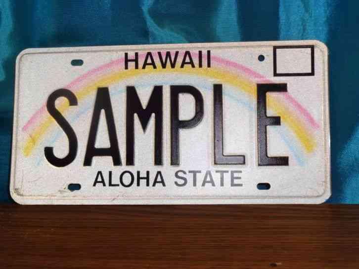 Hawaiian Tag: Hawaii SAMPLE License Plate Tag