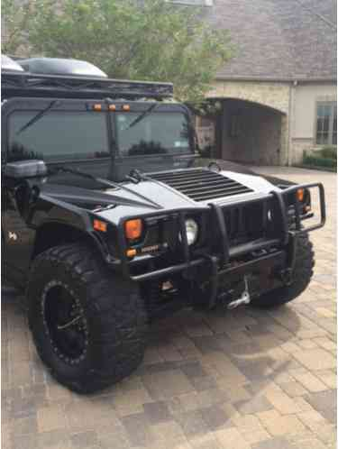 hummer h1 4 passenger wagon alpha 2006 black on black. Black Bedroom Furniture Sets. Home Design Ideas