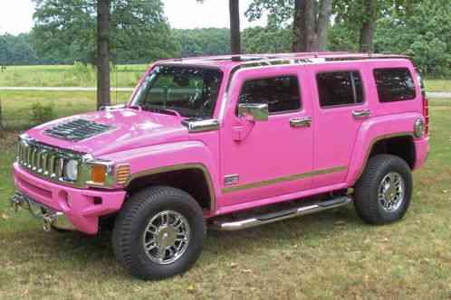 hummer h3 2006 the original pink one owner only 37 100 miles all. Black Bedroom Furniture Sets. Home Design Ideas