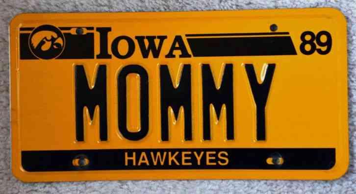 Ia Iowa Hawkeyes Vanity Pnp License Plate Mommy