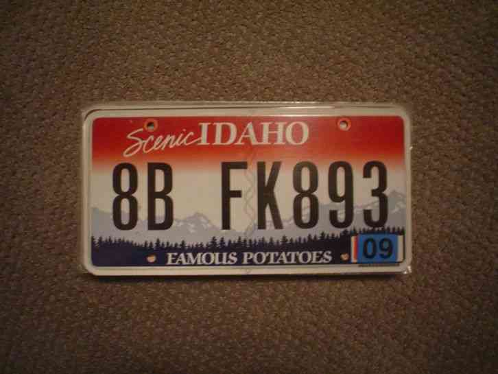 Idaho scenic license plate buy all states here for Who sells fishing license near me