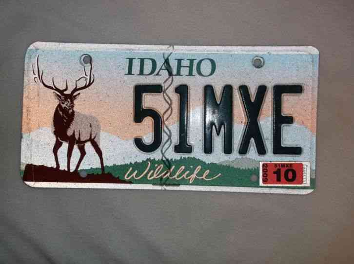 Idaho wildlife bull elk hunting automobile license plate for Pa fishing license prices