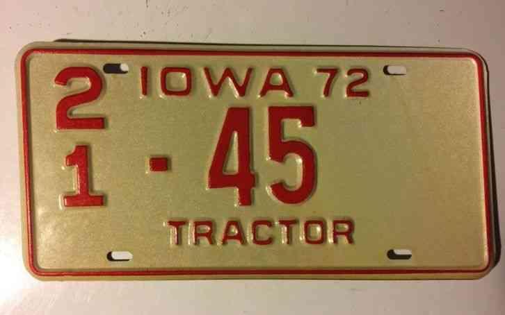 Tractor License Plates : Iowa vintage license plate