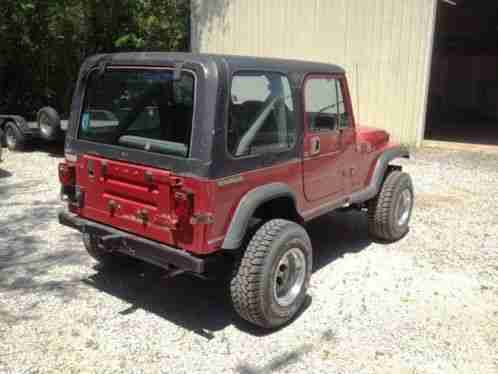jeep wrangler 1988 yj 4x4 4 2l inline 6 engine 5 spd manual car for sale. Black Bedroom Furniture Sets. Home Design Ideas