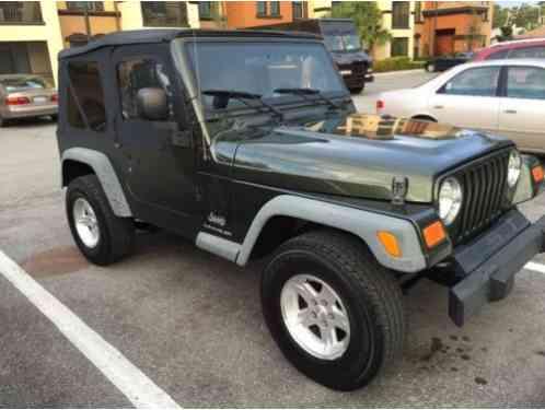 jeep wrangler 2016 2006 tj 96 916 miles 4wd includes new soft top. Black Bedroom Furniture Sets. Home Design Ideas