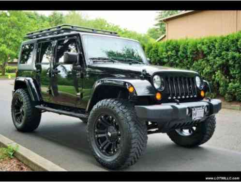 jeep wrangler unlimited lifted 4x4 42k hard top 20s 2013. Black Bedroom Furniture Sets. Home Design Ideas
