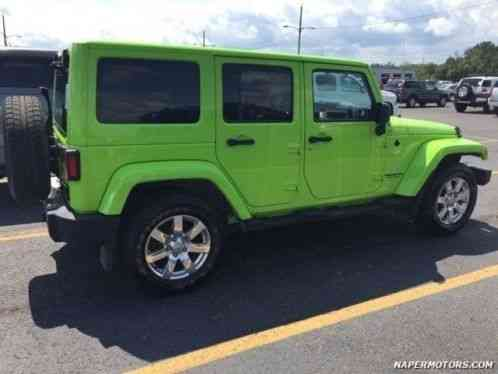 jeep wrangler unlimited sahara 2013 lime green rare 4 door suv exterior. Black Bedroom Furniture Sets. Home Design Ideas