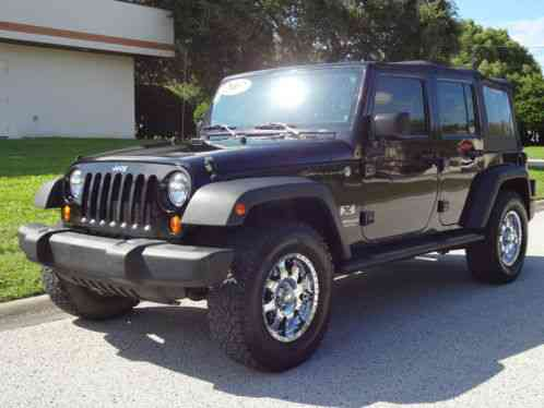 jeep wrangler unlimited x 4x4 2007 fl owned custom chrome whls clean. Black Bedroom Furniture Sets. Home Design Ideas