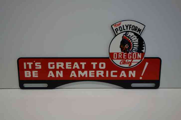 New Oklahoma License Plates >> LARGE License Plate Topper POLYFORM OREGON CHIEF 4 3/4
