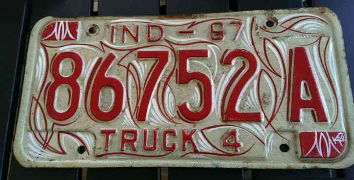 Indiana george rogers clark license plate buy all states for Tattoo artist license