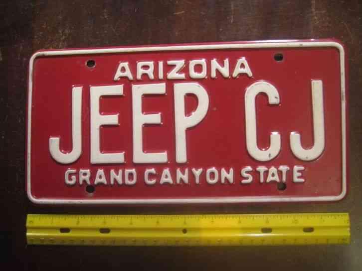License Plate Arizona Grand Canyon St8 6 Saguaros
