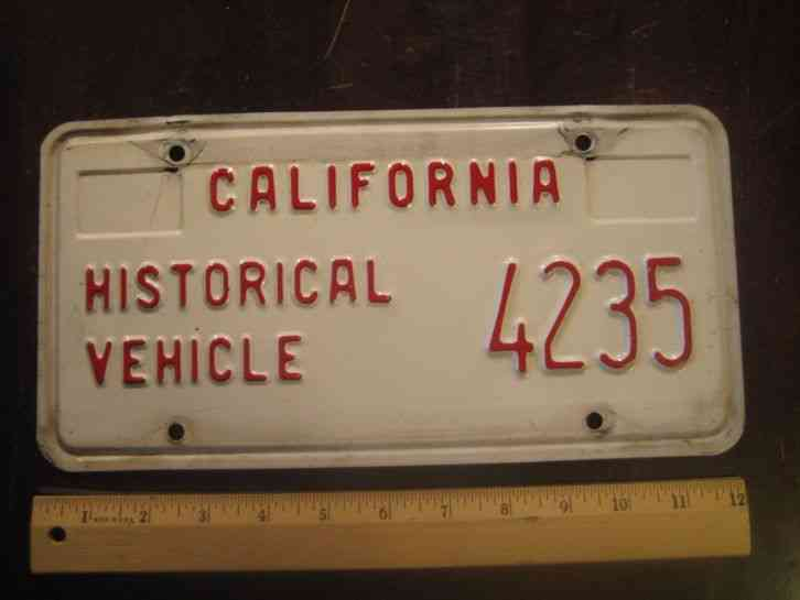 license plate california historical vehicle 1992. Black Bedroom Furniture Sets. Home Design Ideas