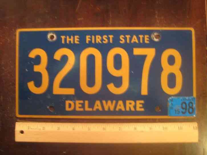 Delaware first state license plate buy all states here for How much does a pa fishing license cost