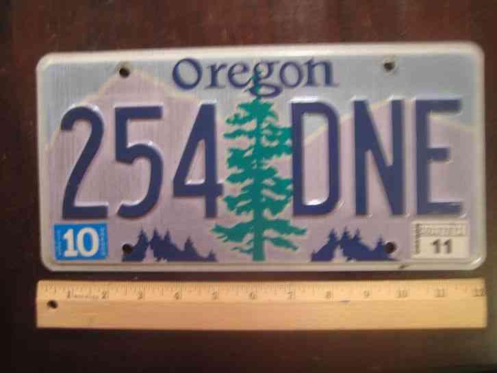license plate oregon pine tree purple mountains 2011. Black Bedroom Furniture Sets. Home Design Ideas
