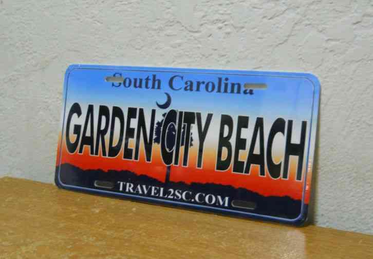 License plate plastic garden city beach south carolina for Garden city beach south carolina