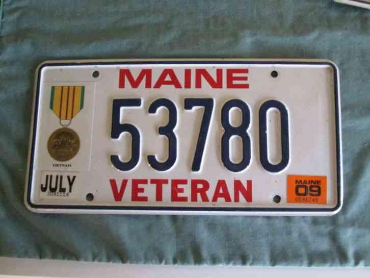 Maine U S Vietnam Veteran Me Military Graphic License