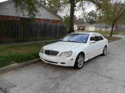 Mercedes benz s class s430 2002 white fully loaded sedan for 2002 mercedes benz s430 price