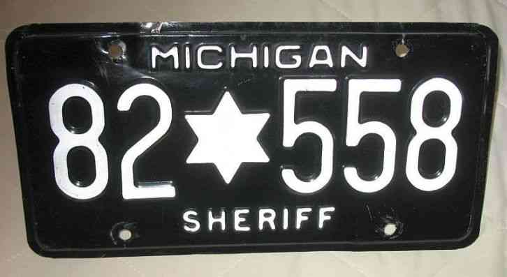 Michigan Sheriff License Plate - Obsolete Original Genuine