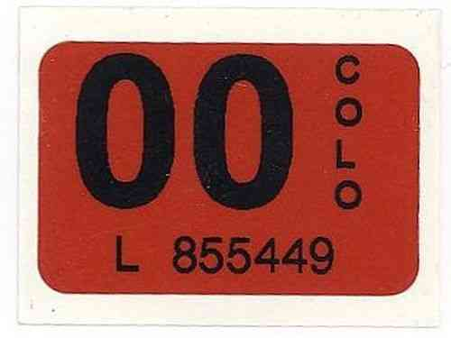 Mint 2000 colorado license plate sticker