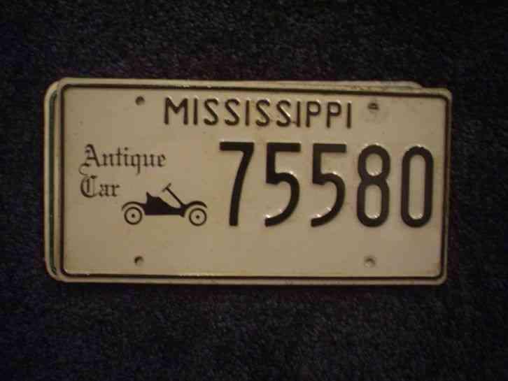 mississippi antique car license plate buy all states here. Black Bedroom Furniture Sets. Home Design Ideas