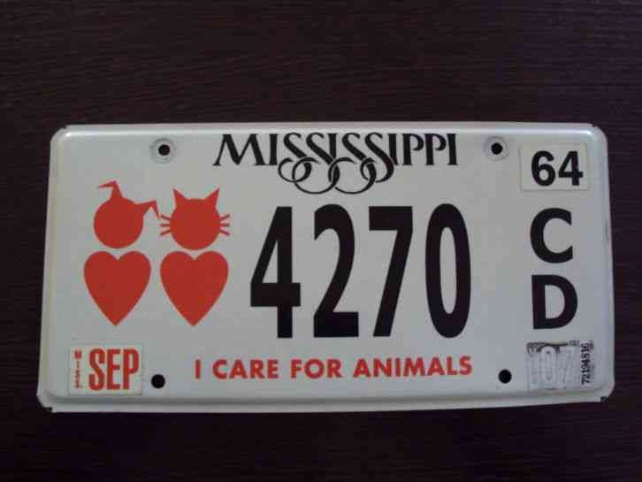 Cat Island License Plate For Sale