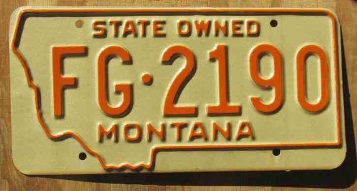 montana fish and game license plate 1963 fg 2190