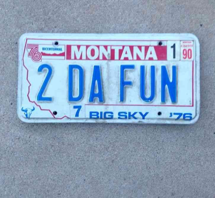Montana Vanity License Plate