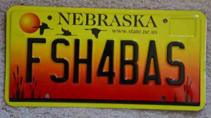 2002 2005 nebraska dealer license plates pair madison for Fishing license az price