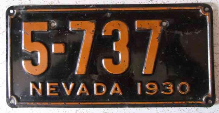 Nevada 1930 License Plate Nice Quality 5 737