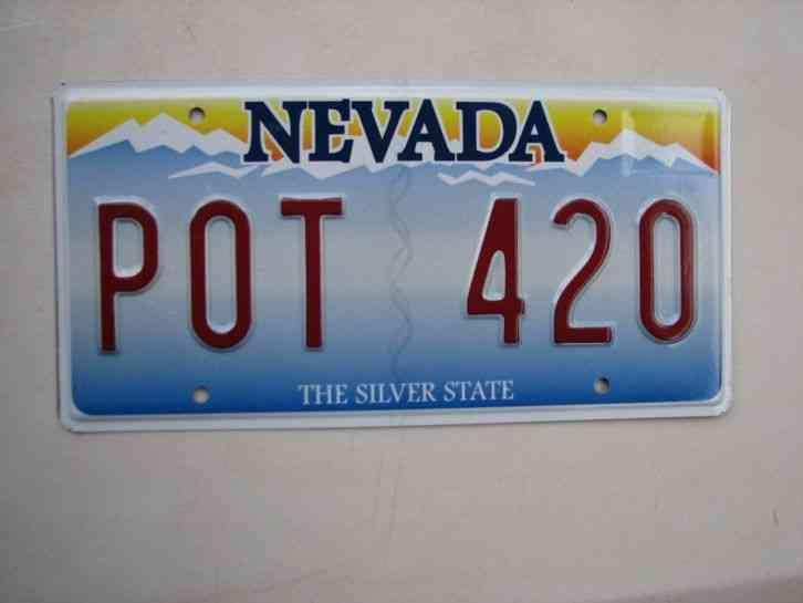 Nevada Vanity License Plate Pot 420 Marijuana Weed Dope
