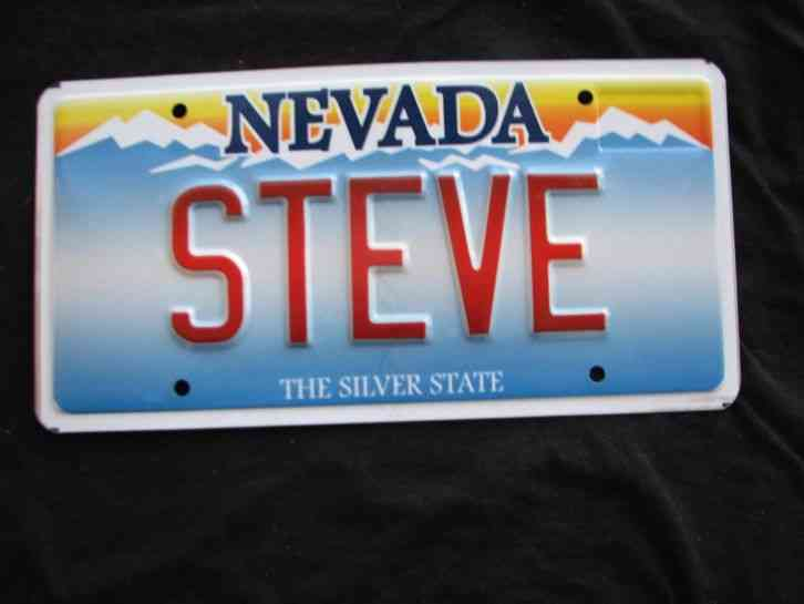 Nevada Vanity License Plate Steve Steven Stephen Stevie