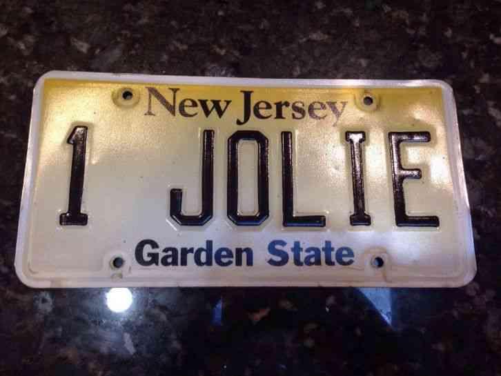 NEW JERSEY 1 JOLIE Vanity Expired 2011 License Plate