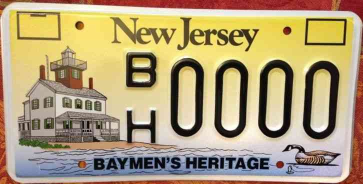 Pair of 1951 new jersey license plates ba 4143 for Pa fishing license prices