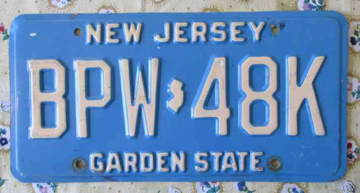 New Jersey License Plate Throw Pillows