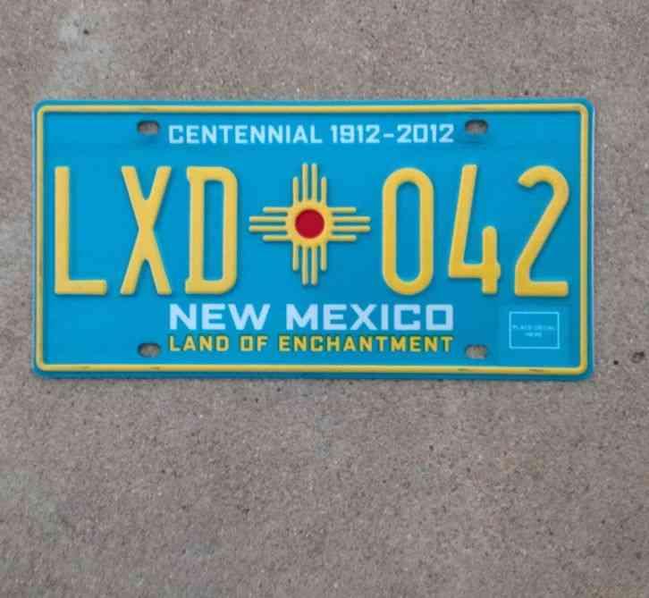 NEW MEXICO CENTENNIAL LICENSE PLATE