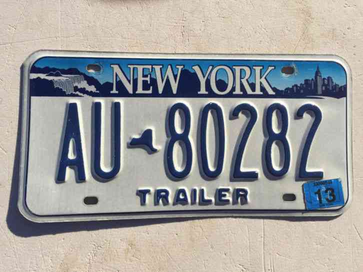 1953 New York State Trailer License Plate 72 802 Trl Rare
