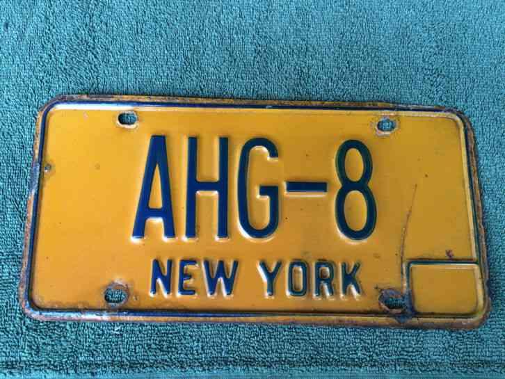 New York Vanity License Plate