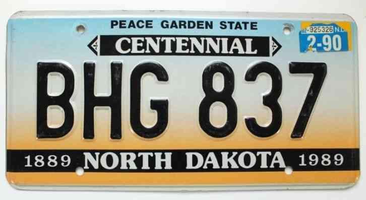 Man Caves Centennial : North dakota feb centennial plate license bhg for